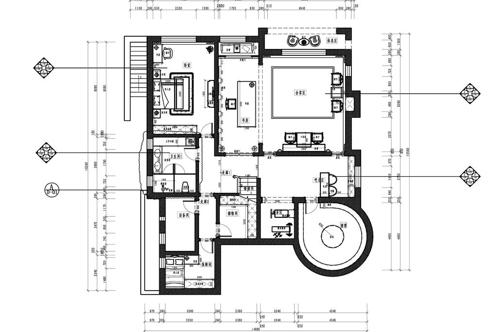 蓝岸丽舍-欧式古典-870㎡-获奖设计案例装修设计理念