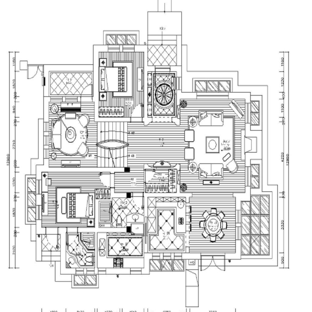 上海圣塔路斯608平美式乡村装潢案例成果图装潢策划愿景