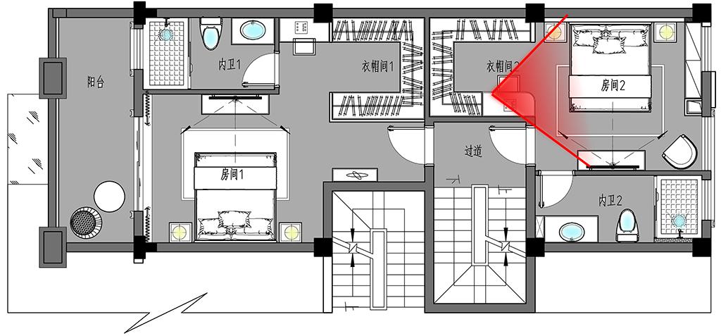 义乌自建房-350㎡-现代装修设计理念