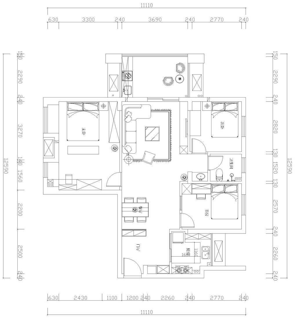 中建开元公馆简欧装修效果图装修设计理念