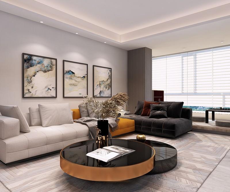 2客廳對于家庭成員來說是生活空間的中心也是接待外客的主要場所。在設計時考慮了家庭成員數量、訪客量以及業主要求,同時在最大條件下獲取自然采光。.jpg