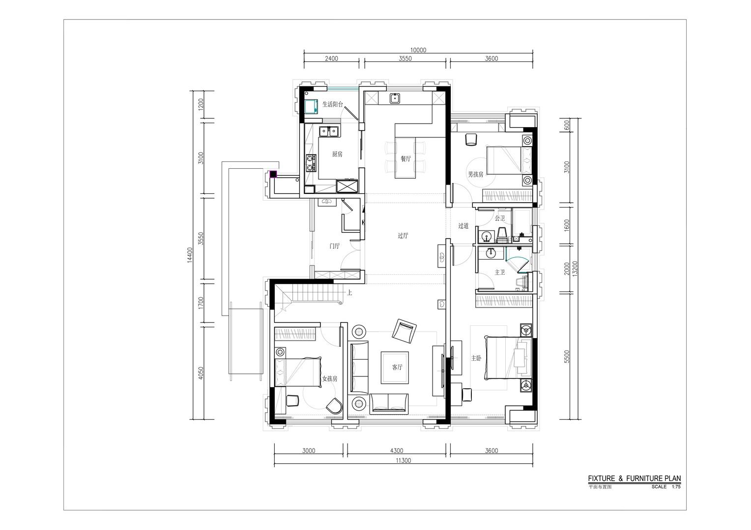 海埂-美式风格案例-260平米复式楼装修效果图装修设计理念
