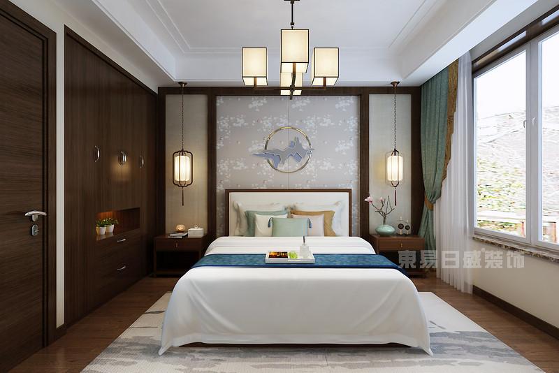 新中式装修效果图_客厅背景墙