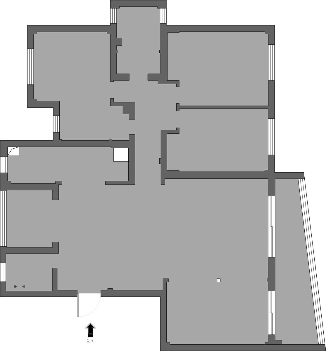 鴻源國際400平米新中式風格裝修效果圖裝修設計理念