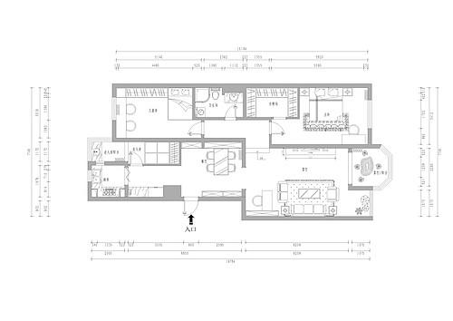 世纪城远大园-108平米-简美装修设计理念