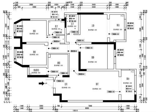 保利海上五月花新中式143平四居室装修设计理念