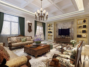 佛山高端家装设计简欧风430平方装修效果图,低调奢华你的至爱