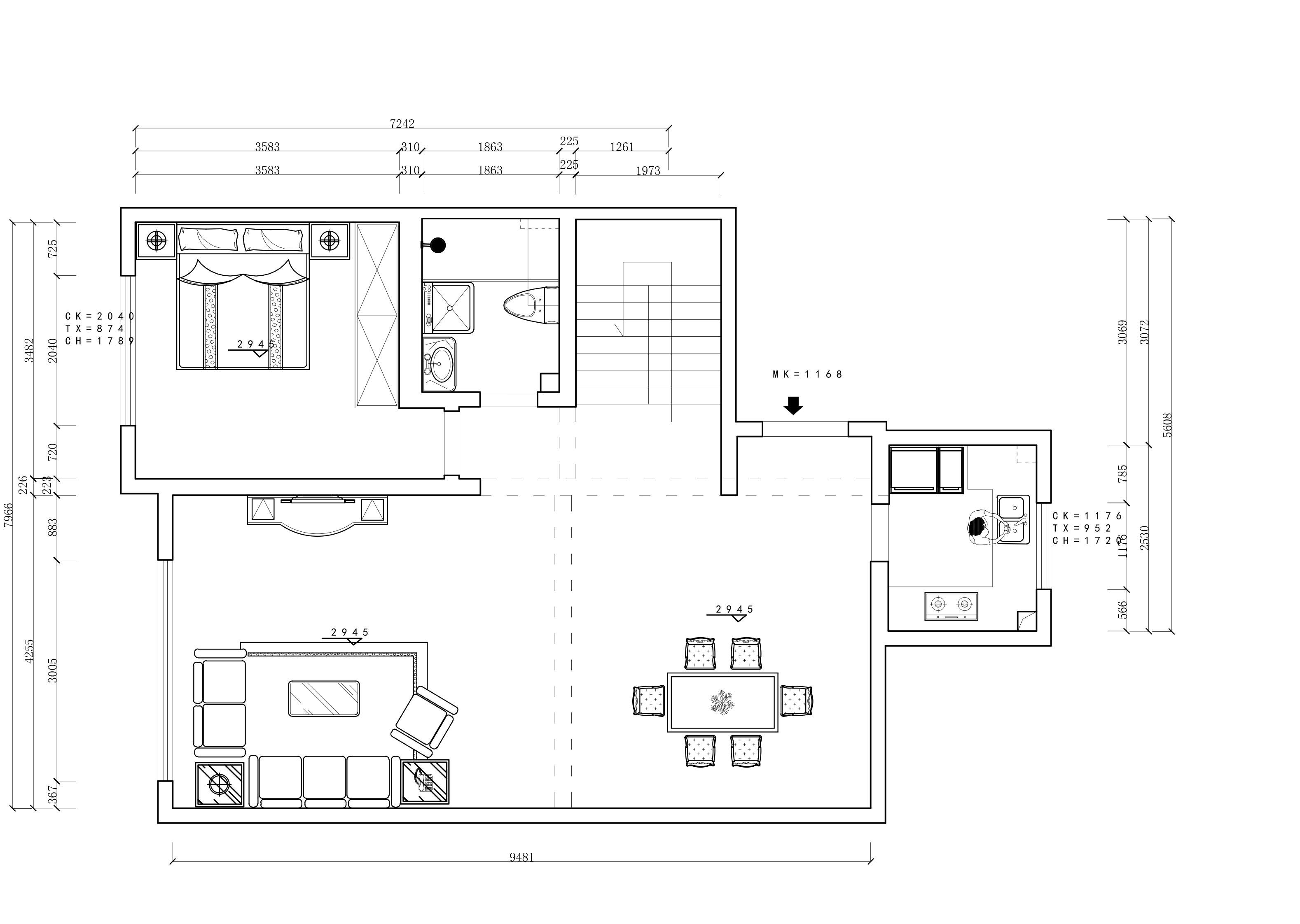 星海长岛-新中式风格-214平装修设计理念