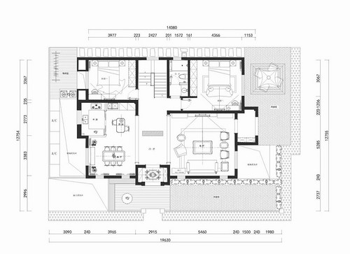 龙湾别墅-简约美式风格-230㎡装修设计理念