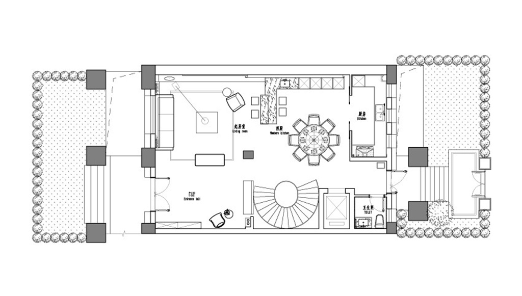 京都府695平别墅现代风格设计装修效果图装修设计理念