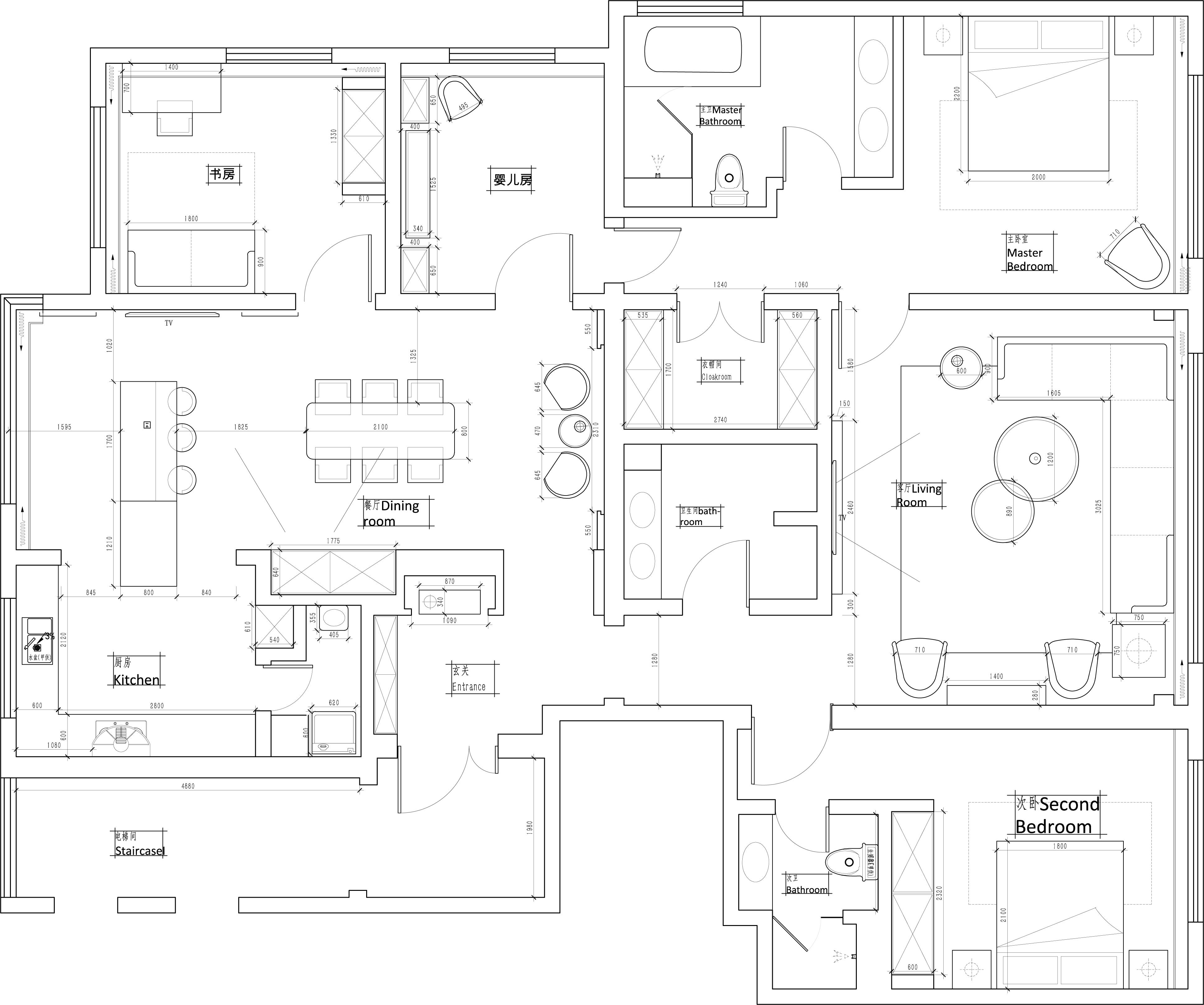 红玺台-新中式-210平米装修设计理念