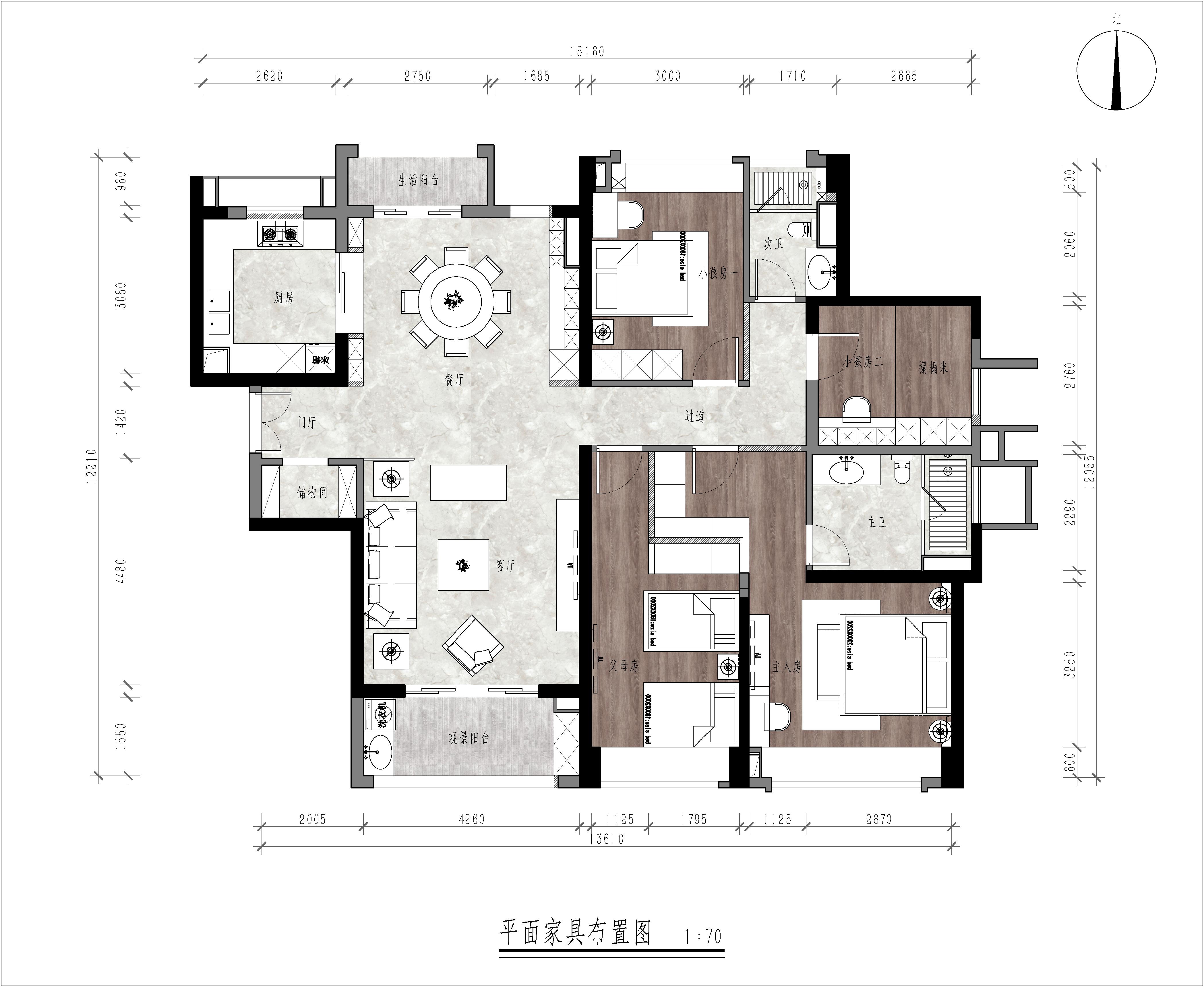 佛山富丰君御180㎡新中式风格装修案例装修设计理念