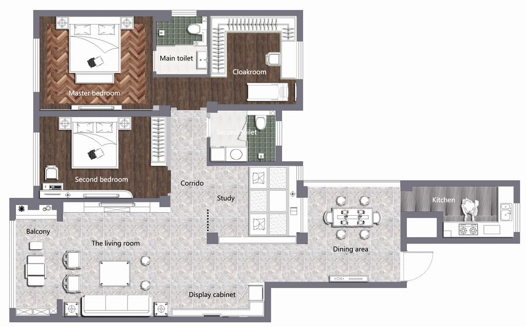 双河湾-新中式-160㎡装修设计理念