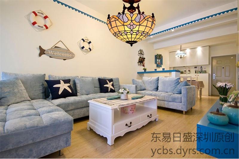 地中海装修风格案例-客厅