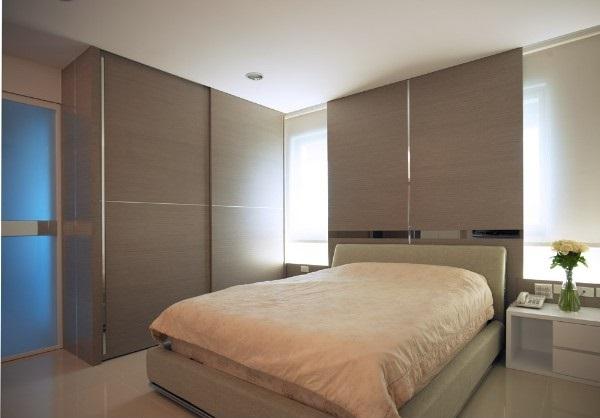 现代简约风格装修图片-卧室