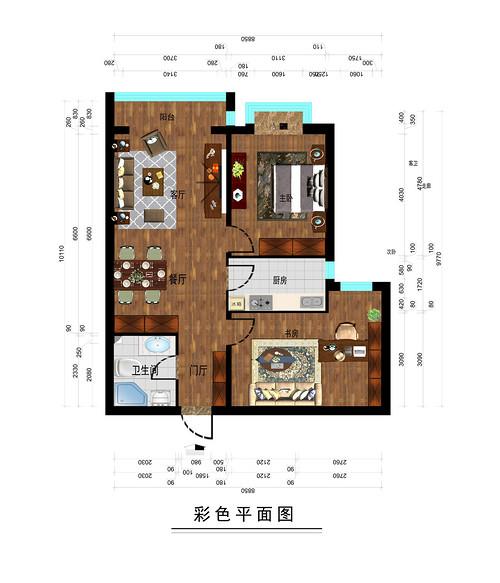 芳庭小区-86平米-简美风格装修设计理念
