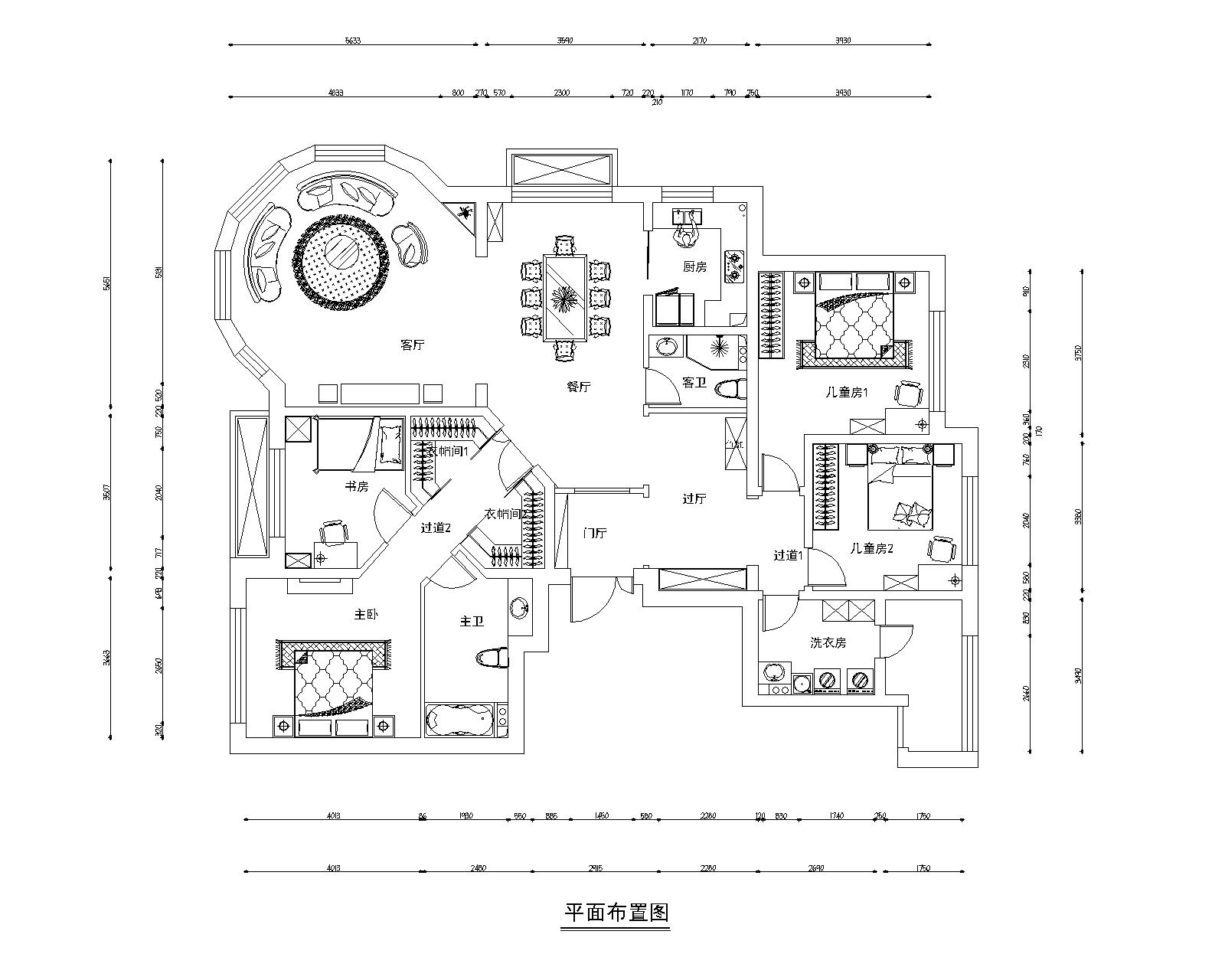 华夏铂宫-240平米-欧式风格装修设计理念