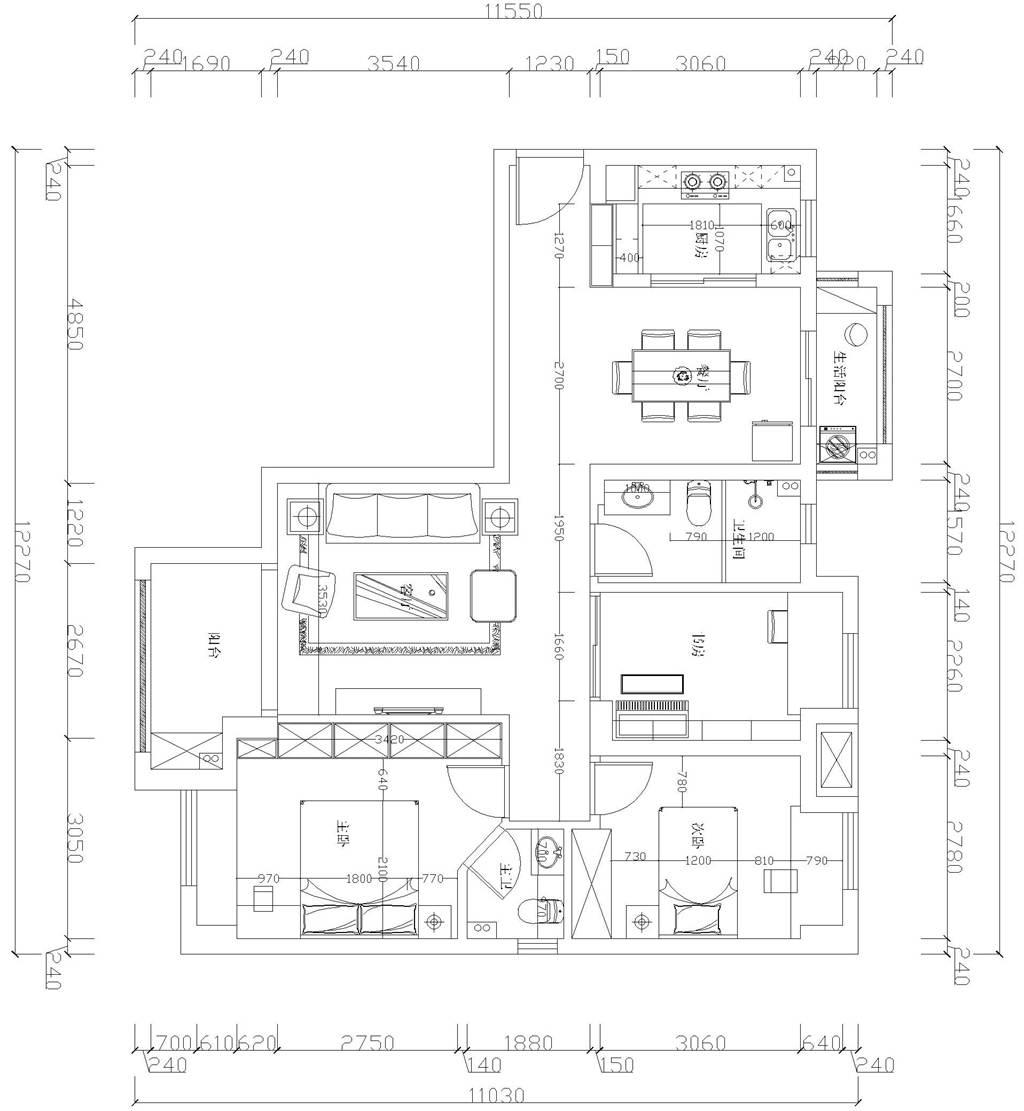 中建开元公馆简欧风格装修效果图装修设计理念