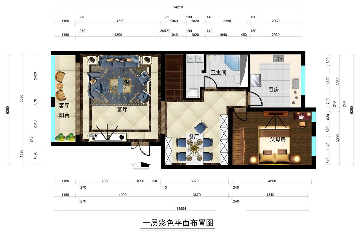 康城花园-190平米-法式装修设计理念