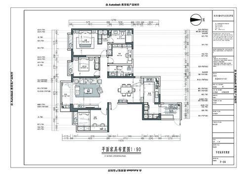 万达one 美式装修效果图 四室两厅 170㎡装修设计理念
