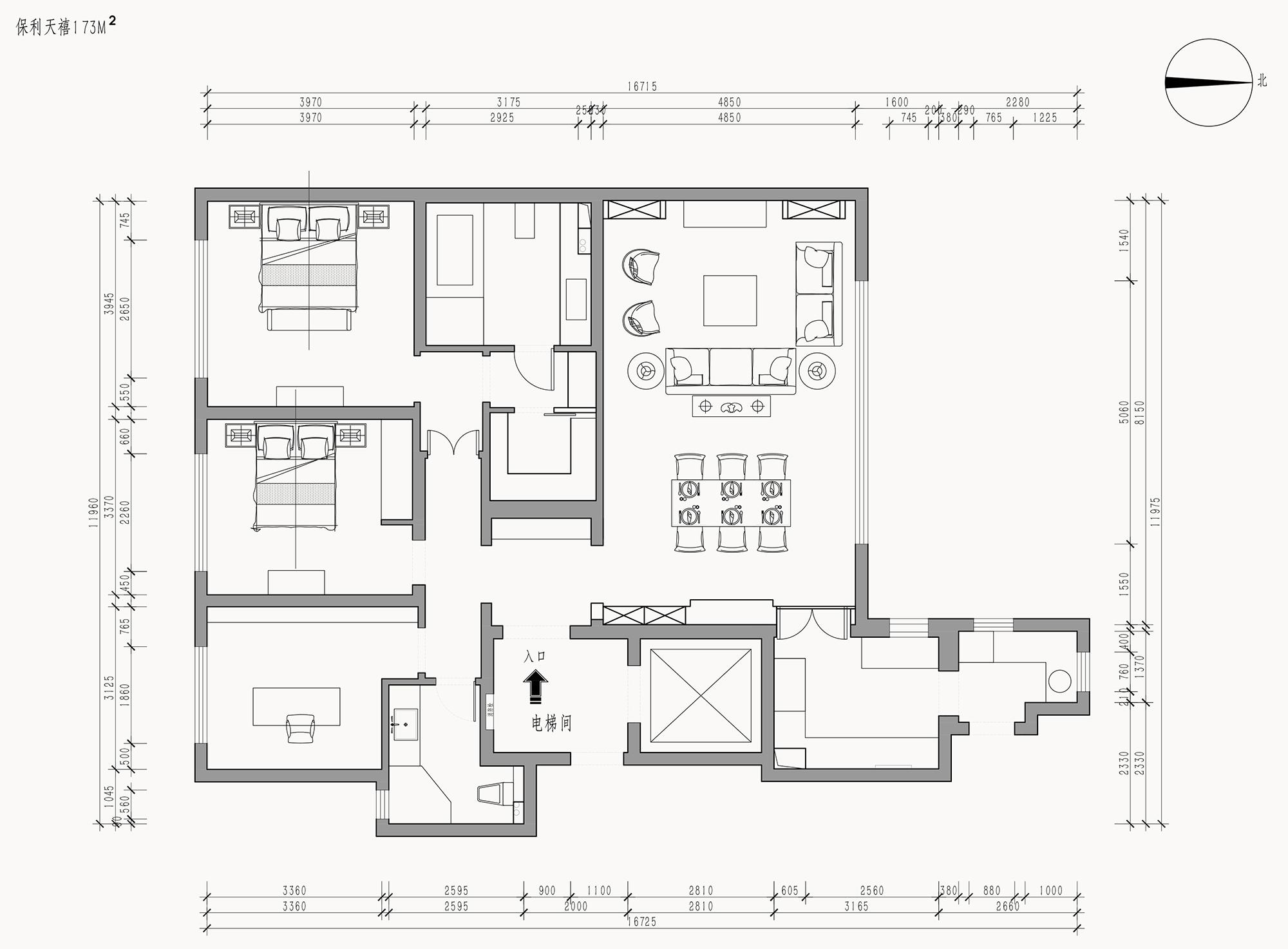 保利天禧-新古典173平装修设计理念