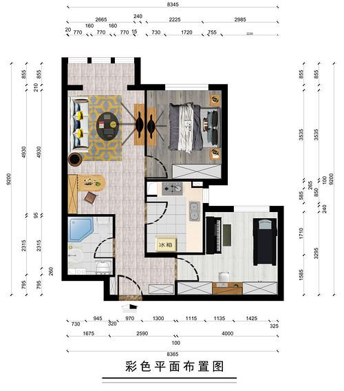 龙泽家园-86平米-北欧风格装修设计理念