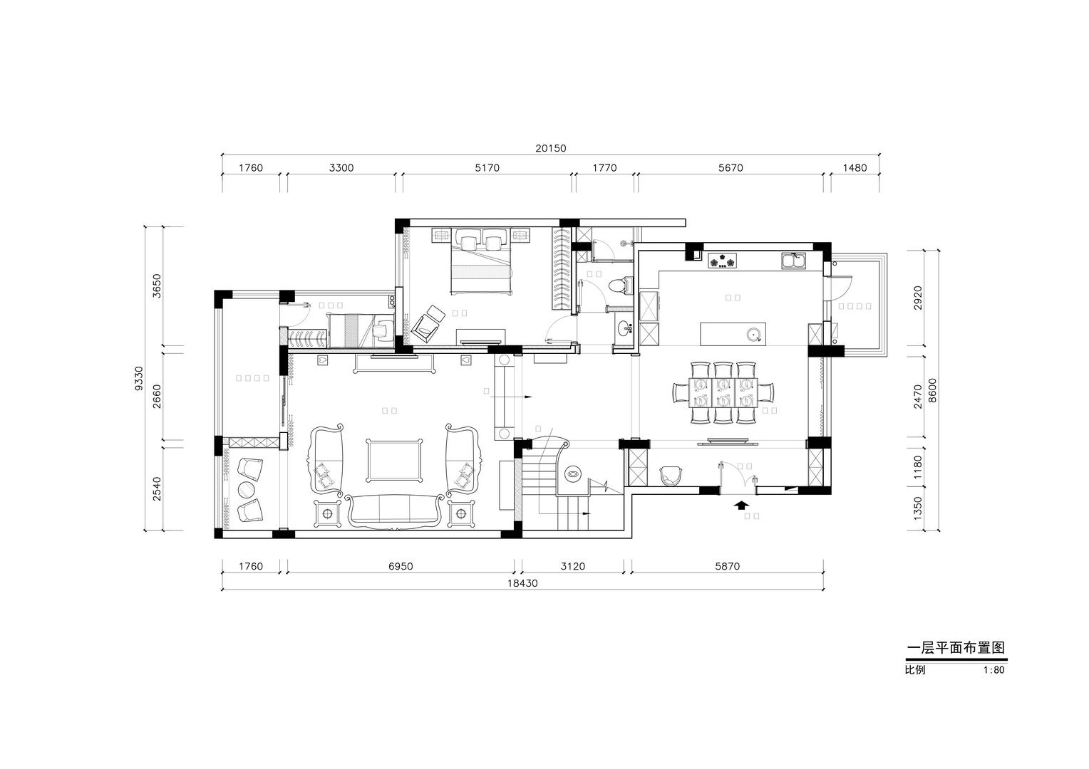 圣莫丽斯-简美风格案例-360平米别墅装修效果图装修设计理念