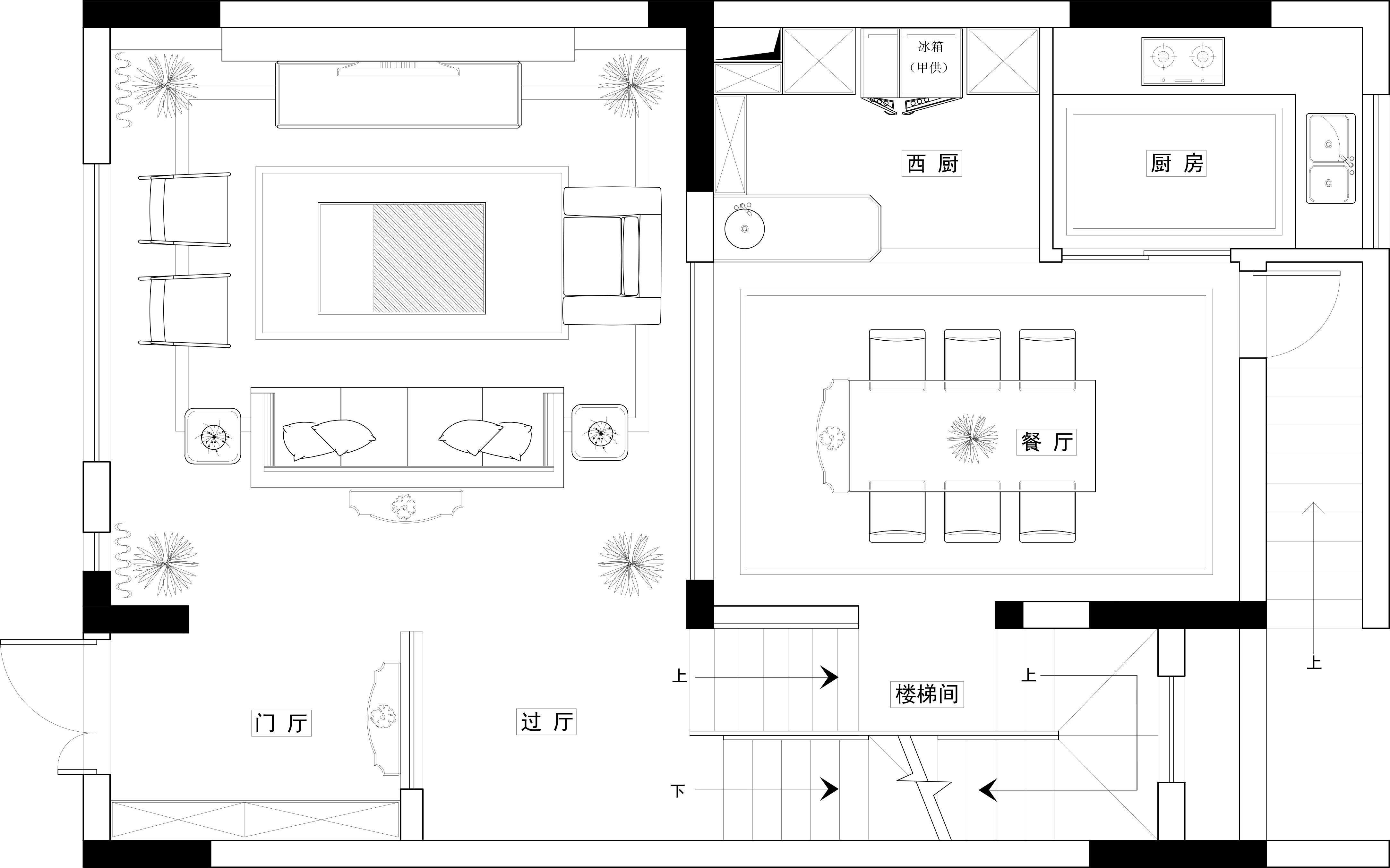 天润尚院330平米新中式风格装修效果图装修设计理念