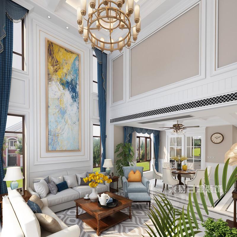 为什么美式别墅客厅装修设计效果图越来越受欢迎