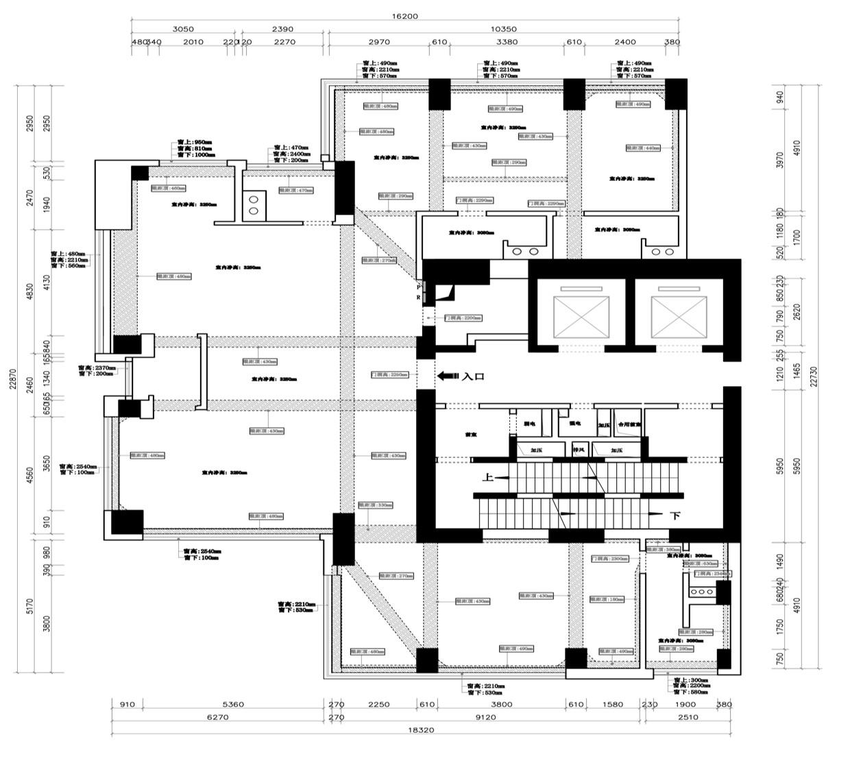 德基世贸330㎡美式装修风格装修设计理念