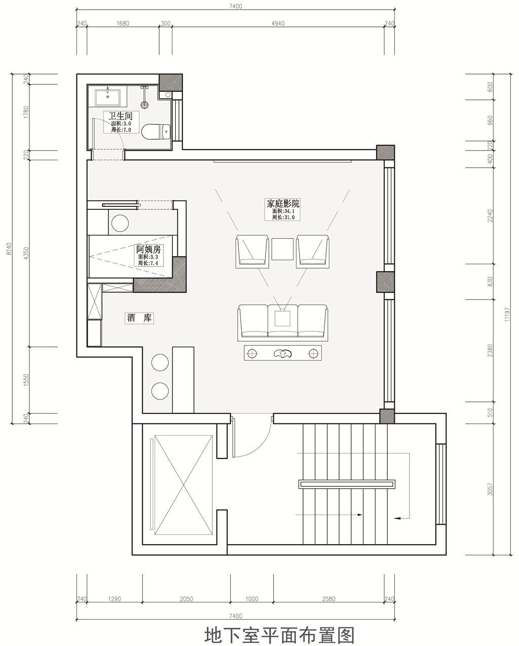 巢上城御墅别墅新中式装修效果图装修设计理念