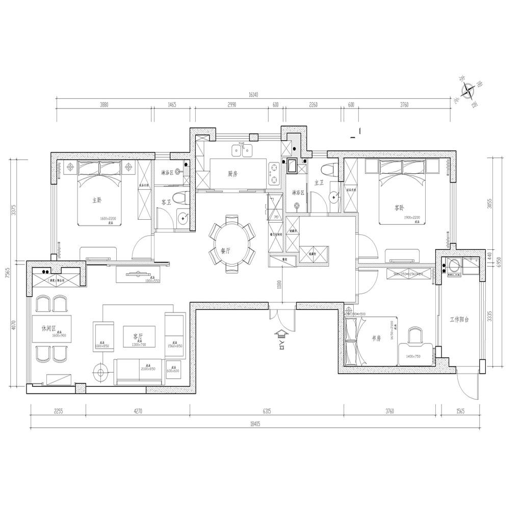 融侨外滩-新中式风格-170平米装修设计理念