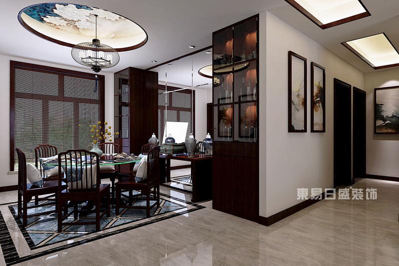 阳光汾河湾165平四室两厅中式风格装修效果图