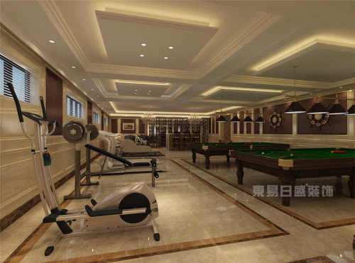 东易日盛地下室健身房装修效果图