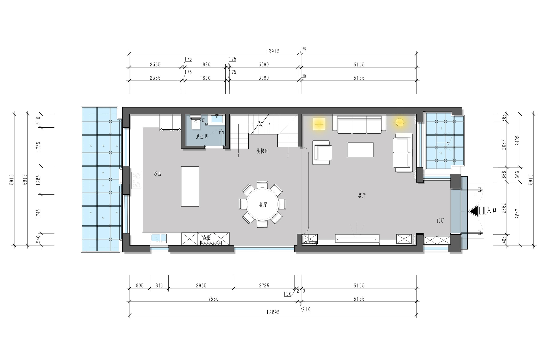 鲁商蓝岸新城 345m/2策划案例 美式装潢成果图装潢策划愿景