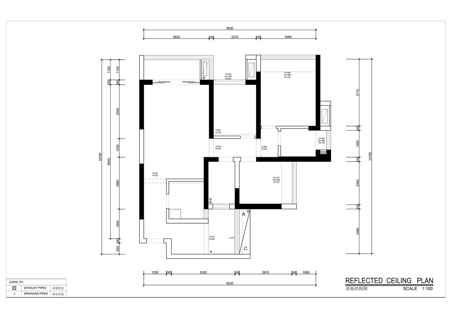 壹成中心-新中式风格案例-89平米装修效果图装修设计理念