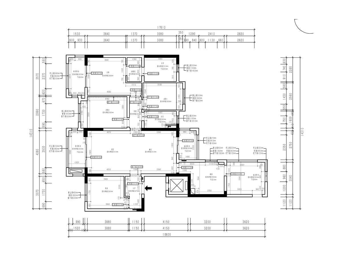 160平三居美式輕奢風格丨九號公館實景裝修案例裝修設計理念
