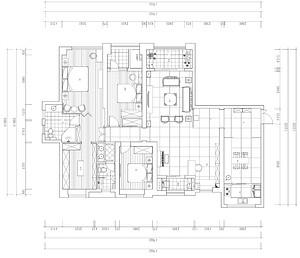 复地东湖国际平层-新中式-238平米户型
