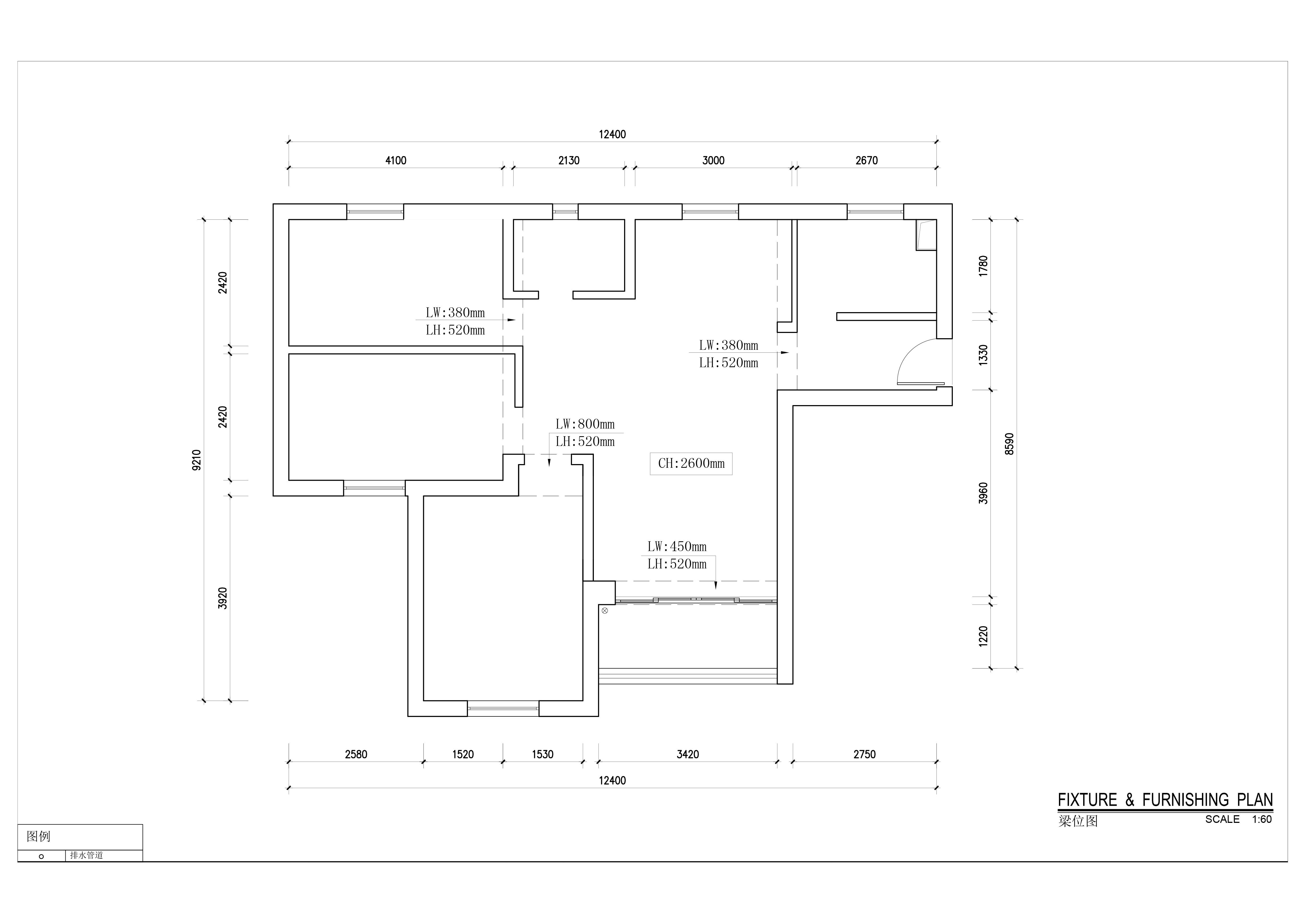 益田村-现代风格案例-100平米三居室装修效果图装修设计理念
