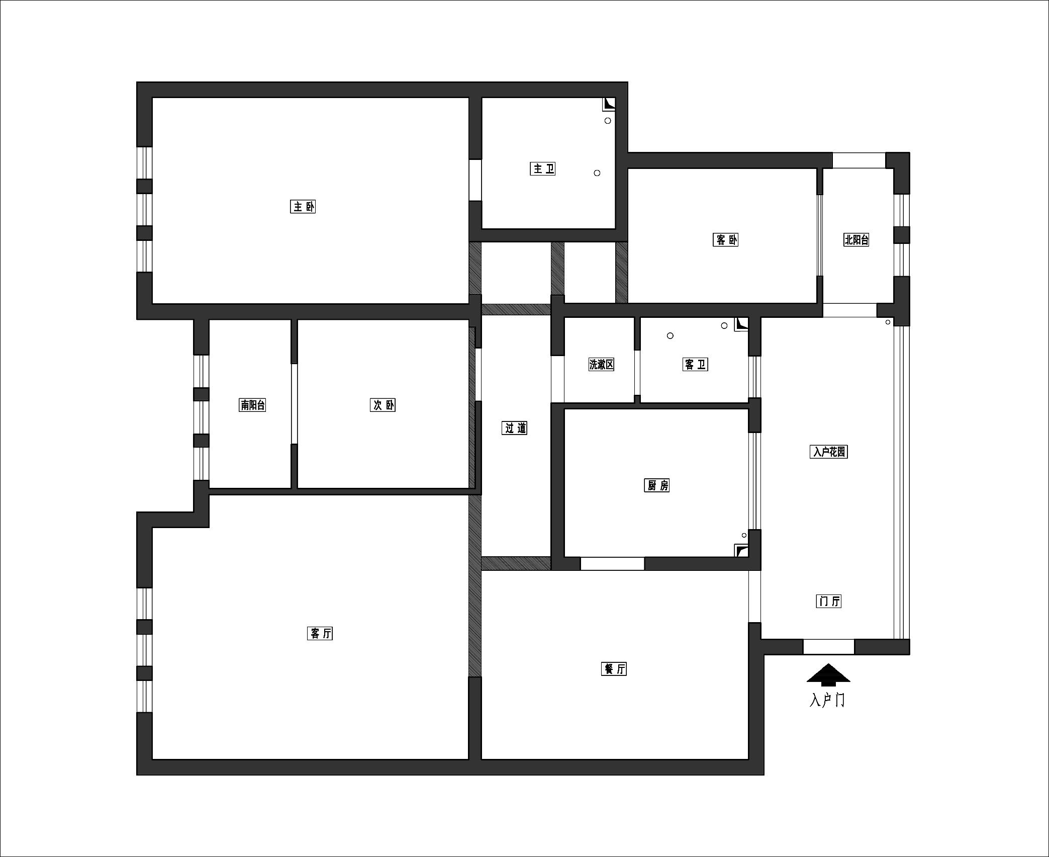 十里洋房-三室二厅-现代简约风格装修案例装修设计理念