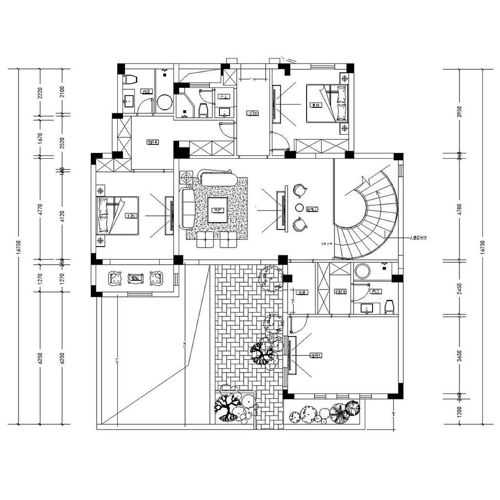 鸿墅花园 简欧 3 00平装修设计理念