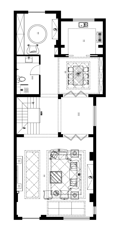 奥园国际城400平欧式古典风格案例装修设计理念