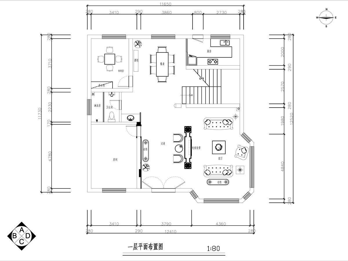汶溪别墅350平方欧式风格装修设计理念