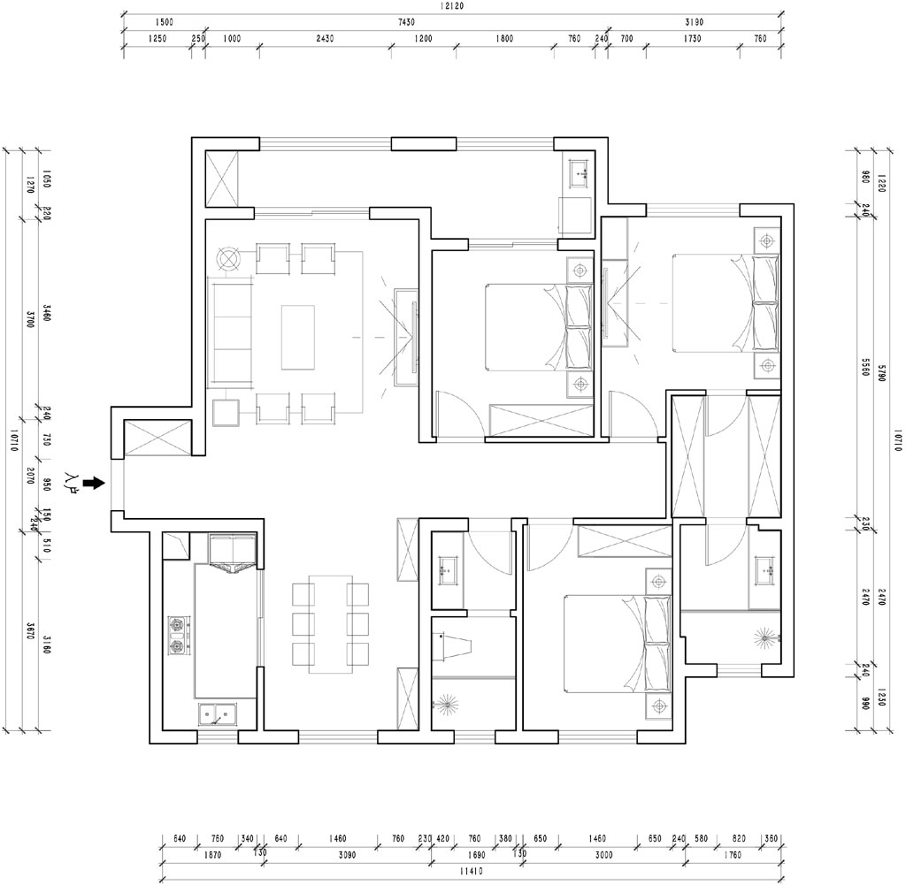 复地东湖国际现代风格装修效果图装修设计理念