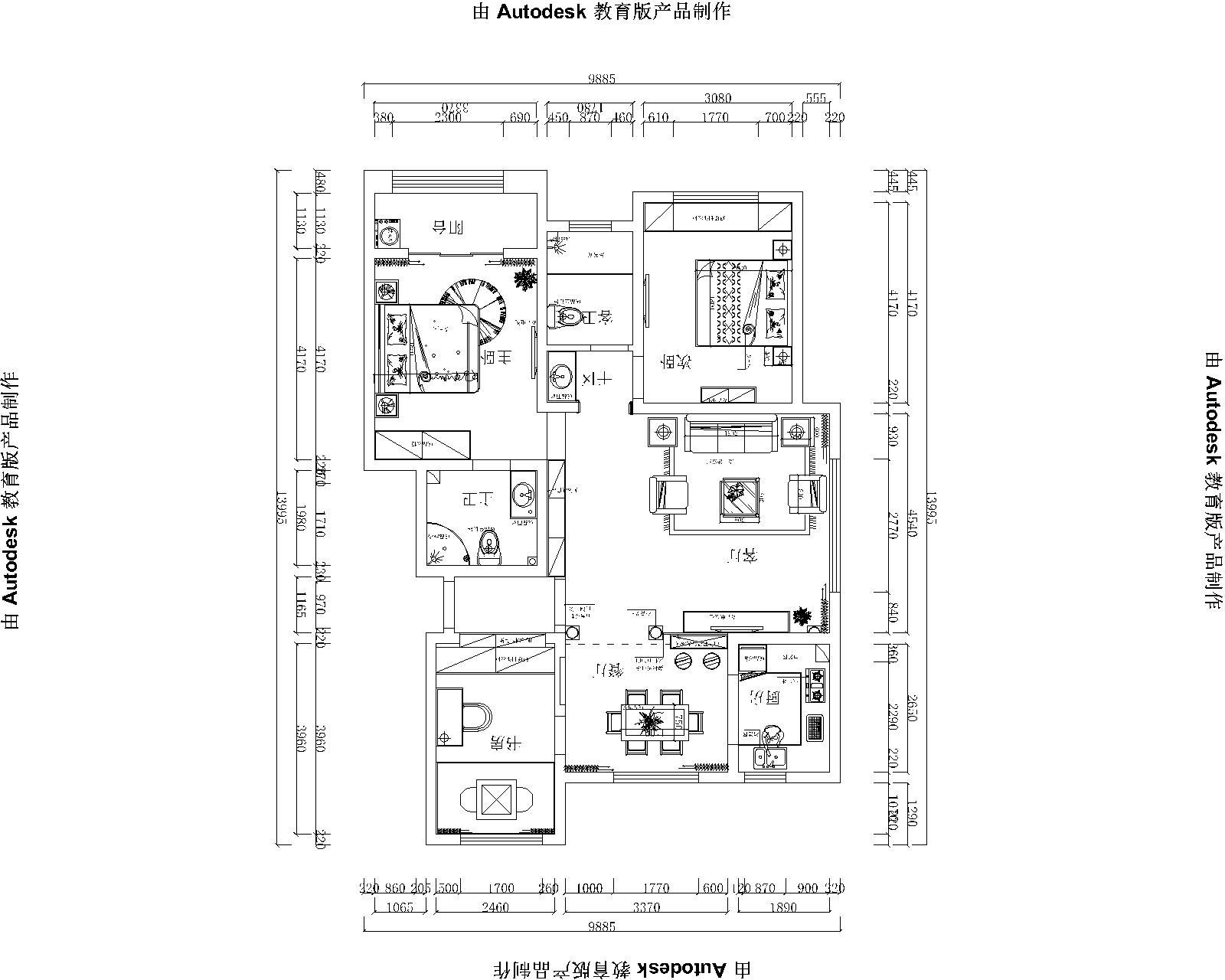 鑫苑世家美式140平三居室装修设计理念
