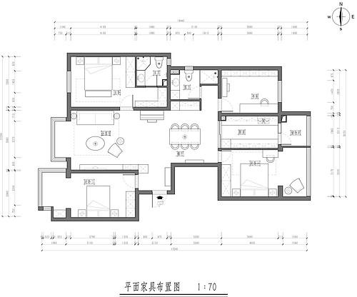 洋桥小区-124.85㎡-新美式装修设计理念