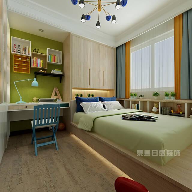 【东易日盛】卧室窗帘效果图