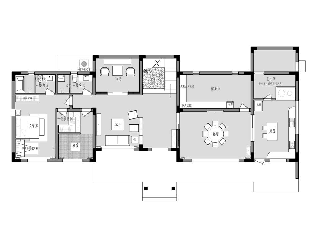 海安自建355平别墅现代日式风格装修设计理念