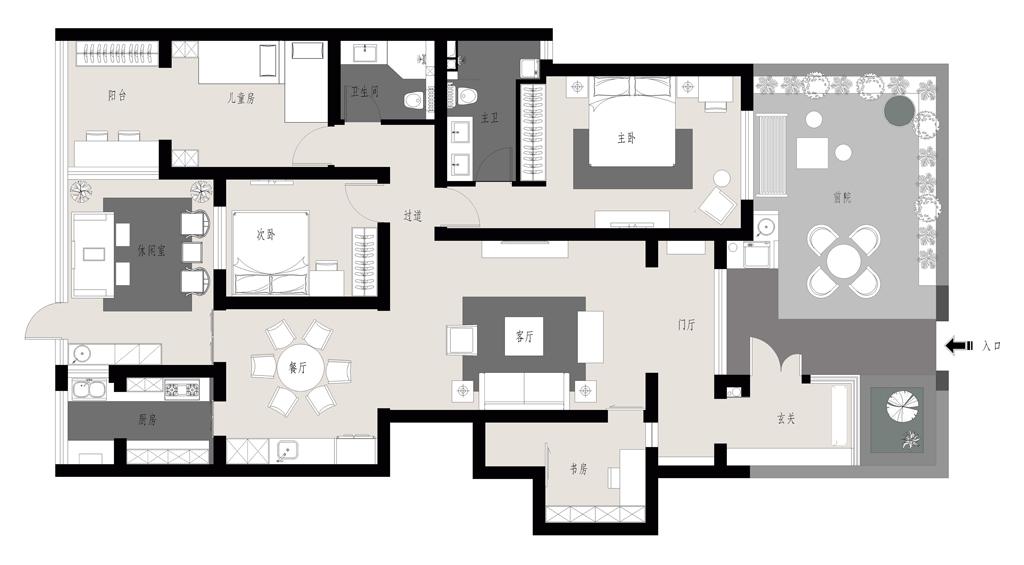 百旺茉莉园-新中式装修风格-169平米装修设计理念