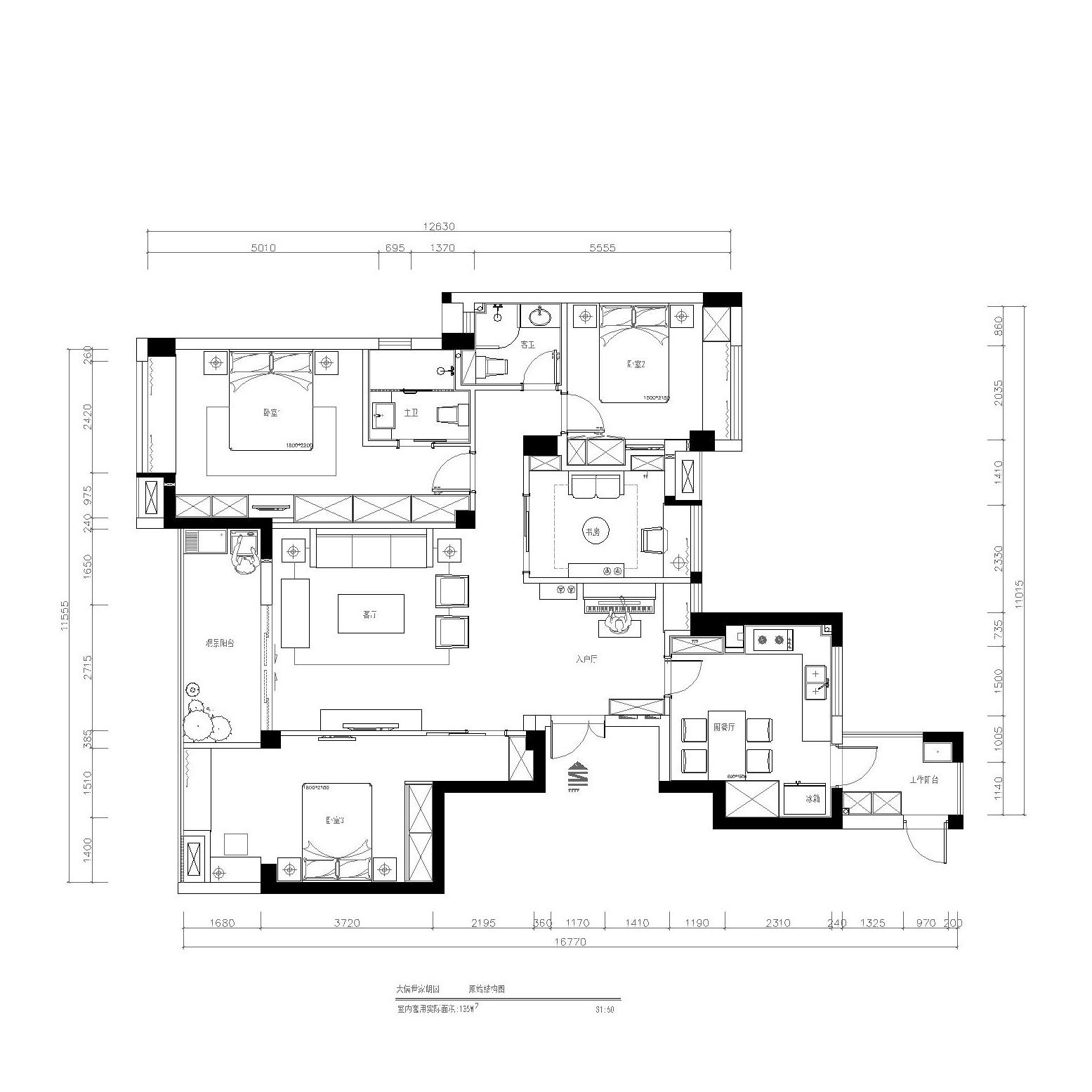 大儒世家朗园-新中式风格-135平米装修设计理念